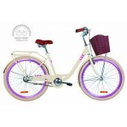 """Велосипед жіночий міський Dorozhnik LUX  14G 26"""" Creamy"""