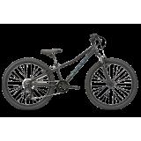 """Велосипед дитячий-підлітковий Haro Flightline 24"""" Matte Black / Met. Blue"""