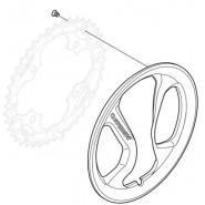 Захист зірки шатунів Shimano 42 зуб. Acera FC-M361, пластик