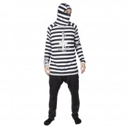 Термобілизна верх 686 Airhole Thermal Balaclava Top (Jailbird Stripe)