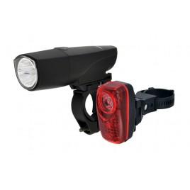 Комплект Ліхтарів для велосипеда Longus Передній 1W LED та задній 0,5W 2LED