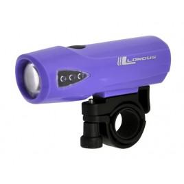 Передній Ліхтар для велосипеда Longus 1W LED purple