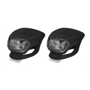 Комплект Ліхтарів для велосипеда Longus передній 2LED / 2ф-ції + задній 2LED / 2ф-ції, чорний