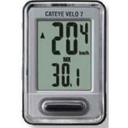 Велокомп'ютер CatEye - VELO 7, CC-VL520, срібний
