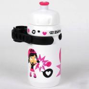 Фляга Zefal LittleZ Z-Girl (162G) 350мл пласт. дитяча з унів.кріпленням біло/рожева